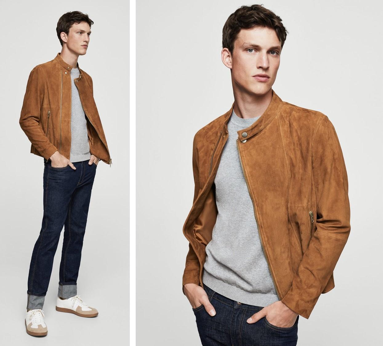 valentino and john asesores de imagen para hombres en barcelona chaquetas y cazadoras de otoño entretiempo 2017 mango cazadora de ante marrón